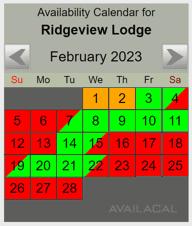 grey availability calendar