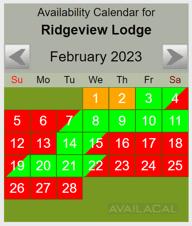 availability calendar green & grey