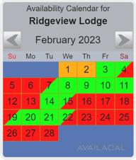 dusty blue availability calendar