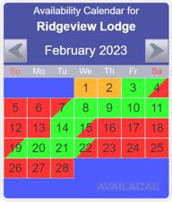 bright blue rental calendar