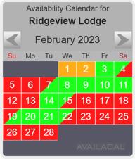 availability calendar ridge-view
