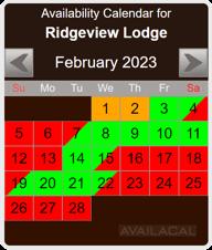 dark brown availability calendar