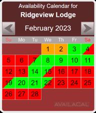availability calendar, red