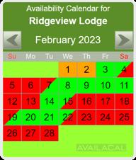 availability calendar lime-green