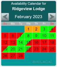 availability calendar, blue-green