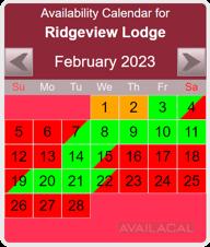 booking availability calendar pink