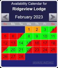 availability calendar, royal blue