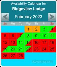 availability calendar sky blue