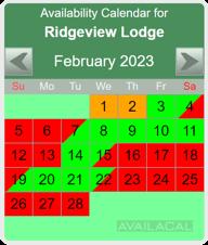 availability calendar tropical