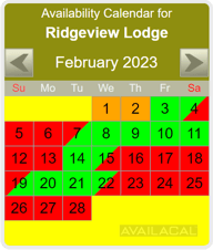 availability calendar banana yellow