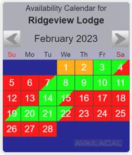 availability calendar ocean