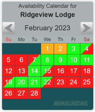 teal rounded availability calendar