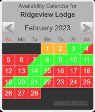 availability calendar dark gray